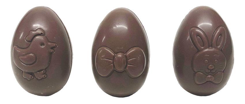 Assortiment holle speelse eieren melkchocolade