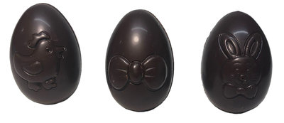 Assortiment holle speelse eieren pure chocolade