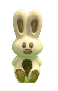 Bunny medium ingekleurd wit