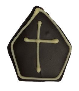 marsepeinen mijter met pure chocolade
